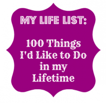 Life List Button