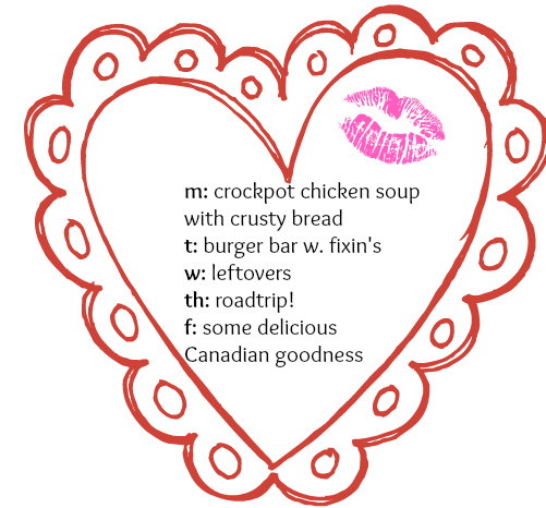 vday menu week