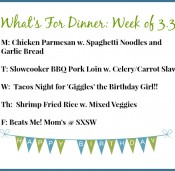 What's for Dinner This Week: Chicken Parm, BBQ, Tacos and Shrimp Fried Rice