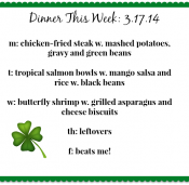 Dinner This Week: Chicken-Fried Steak, Tropical Salmon & Butterfly Shrimp