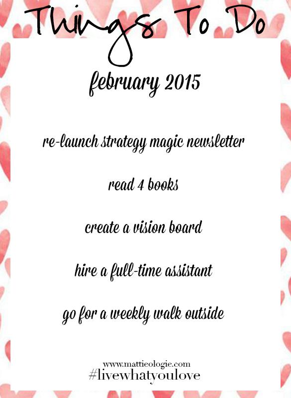 February To Do